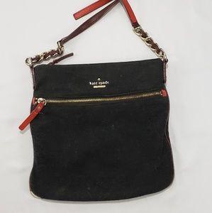 ❤Kate Spade Charcoal Felt Crossbody Bag Purse